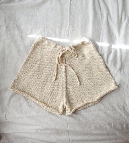 crochet Knit Shorts - Cream