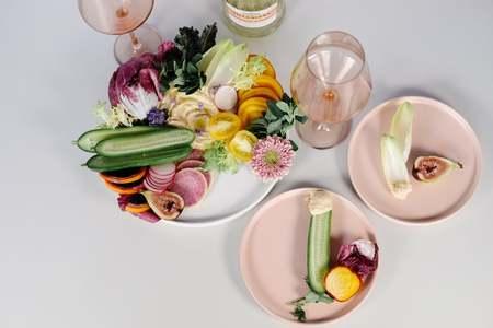 HUDSON & OAK Set of 4 Semi Matte Ceramic Dinner Plate
