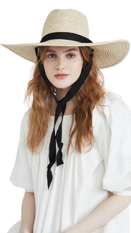 HAT ATTACK Belle chinstrap hat - natural