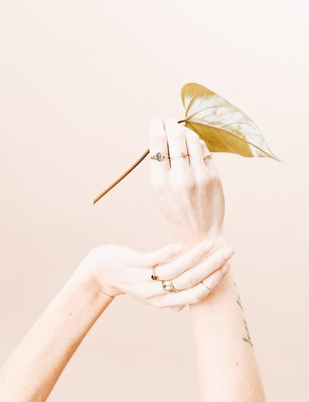 I LIKE IT HERE CLUB Pinky Promise Ring - gold plate