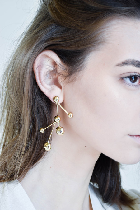 Pamela Love Hydra Earrings in Brass