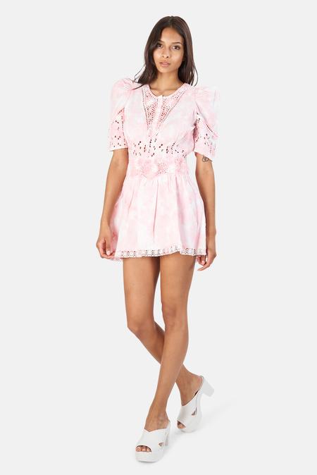LoveShackFancy Divine Mini Dress - Pink