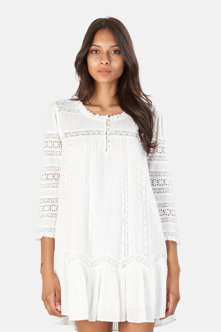 LoveShackFancy Toleda Dress - True White