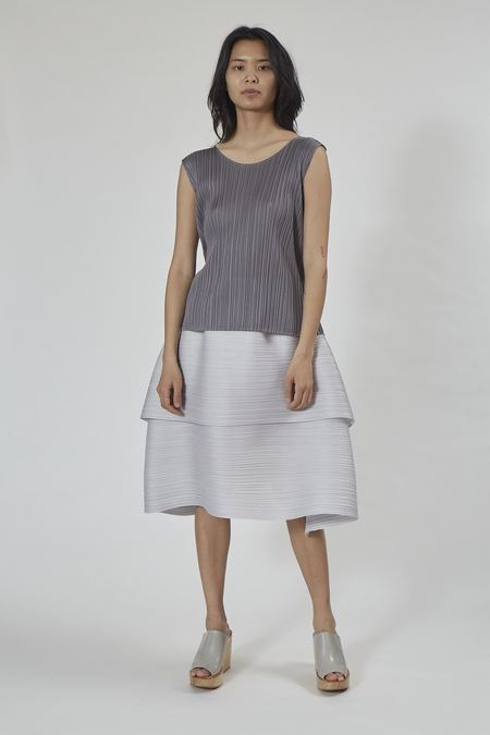 Issey Miyake Pleats Please Basics Top - Gray