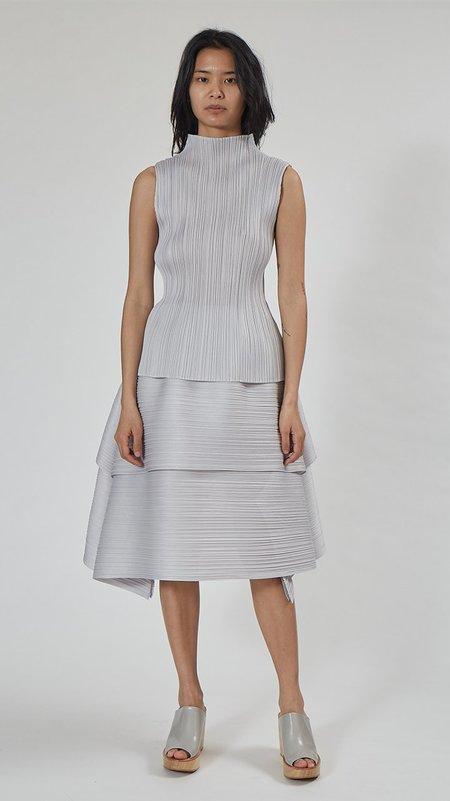 Issey Miyake Pleats Please Basics Top - Light Gray