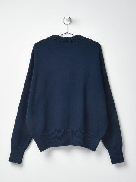 Ami Oversize Ami De Coeur Sweater - Navy