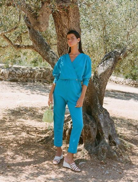Paloma Wool Alexandria Jumpsuit - Cyan Blue