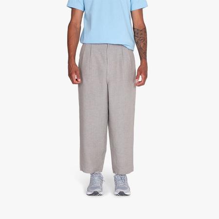 COMME des GARÇONS HOMME Linen Chambray Pants - Grey