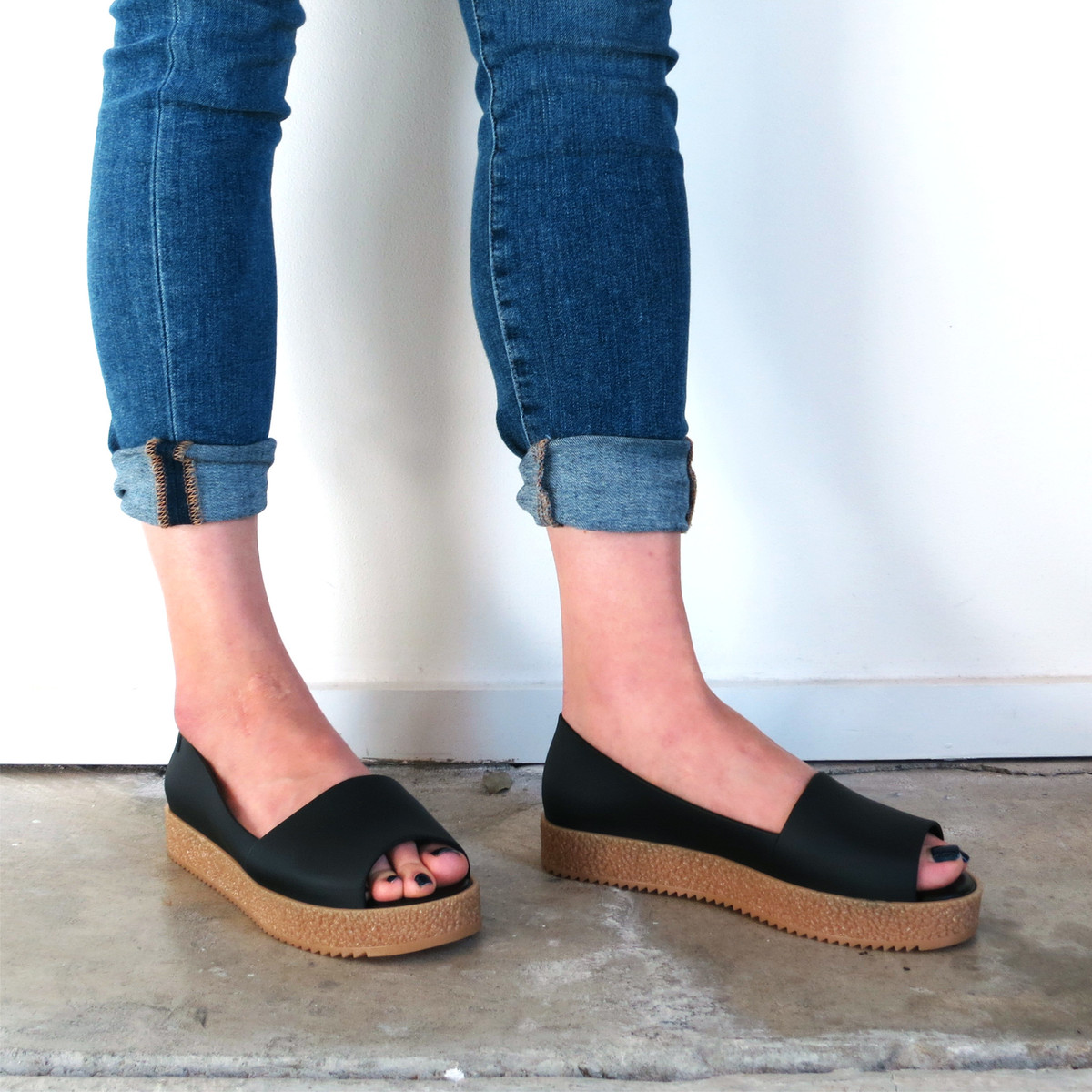 Melissa Puzzle Flats in Black
