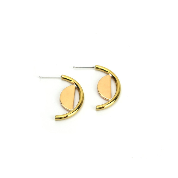 Claire Green Jewelry Crescent Dune Earrings