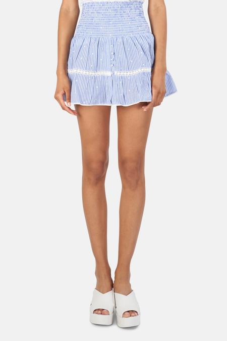 Sunday Saint Tropez Pomponette Skirt - Blue Stripe