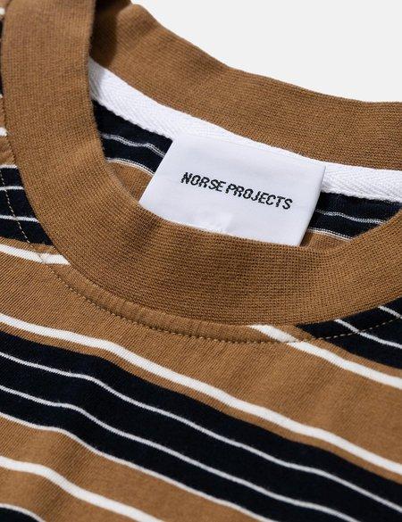 Norse Projects Johannes Multi Stripe T-Shirt - Brown