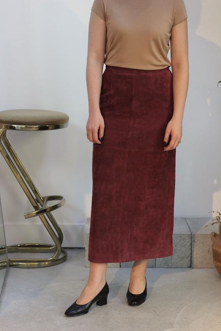 Hey Jude Vintage Suede Skirt