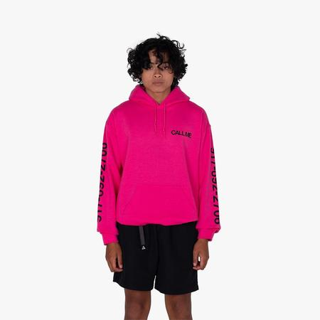 Nine One Seven Eyes Dialtone Pullover Hoodie sweater - Pink