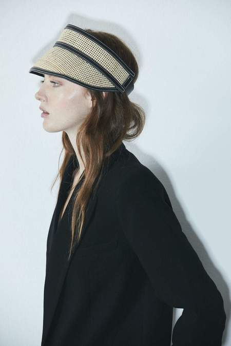 Janessa Leone Constance Visor hat - natural