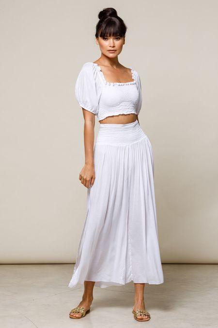 BEACHGOLD Sheer Ali Top - White
