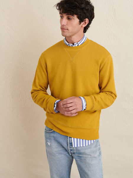 Alex Mill Garment Dyed Crewneck Sweatshirt - Yellow Ochre