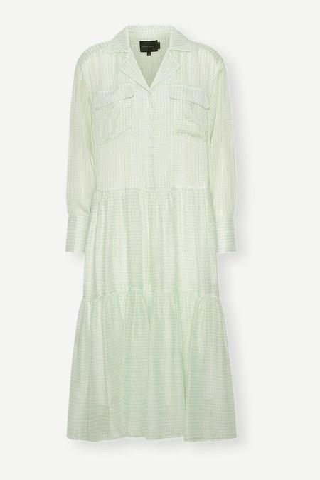 BIRGITTE HERSKIND Check Trine Dress - green