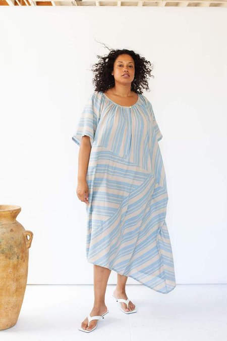 Seek Collective Leta Caftan dress - Cirrus Stripe