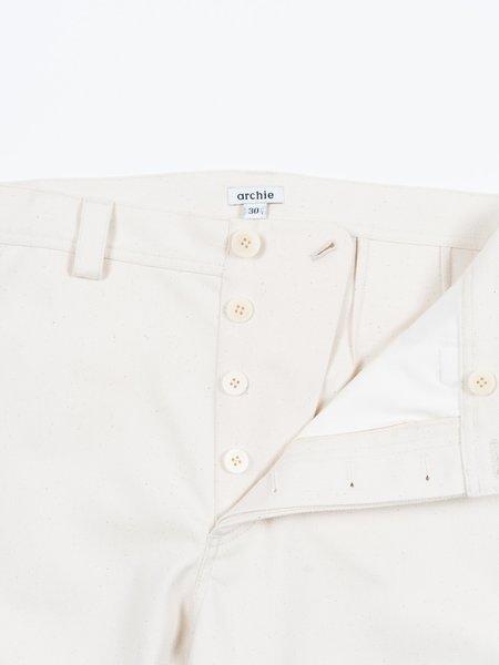 archie Standard Pant - Natural Slub Twill