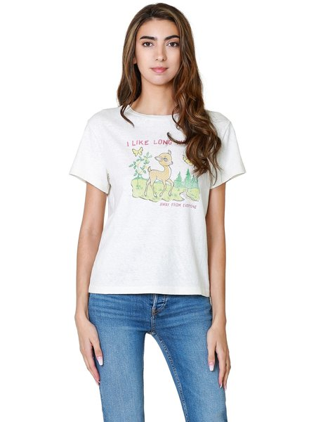 RE/DONE Classic Long Walks Tee - Vintage White