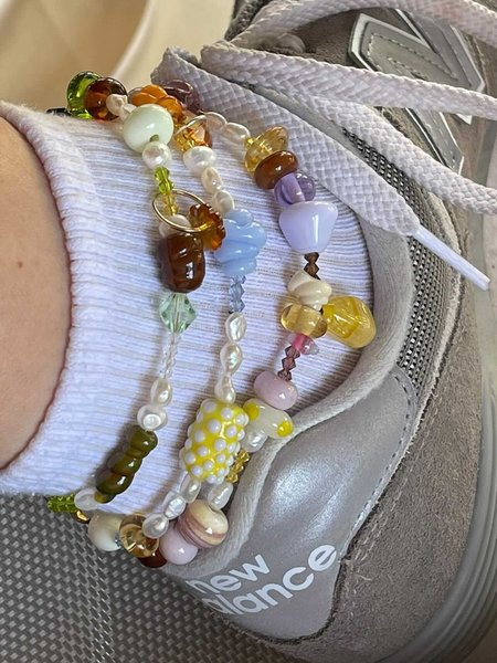 My OLLO Candy Glass Bead Anklet