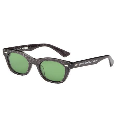 PLEASURES Method Sunglasses - Black Sparkle