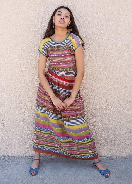 Vintage Rainbow Woven Skirt Set