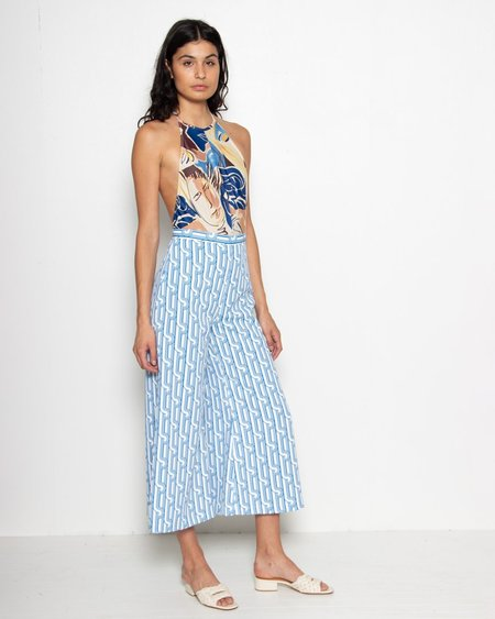 Rachel Comey Absolute Pant - Blue Retro Print