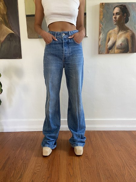 PRE-LOVED Paco Rabanne ACCENT FLARE JEAN - blue