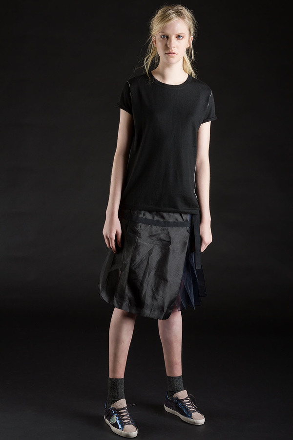 Paychi Guh Cashmere Baby Tee Black