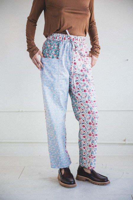 Kasmaria Floral Patch Pants - Blue