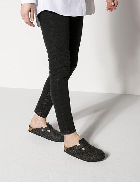 Unisex Birkenstock Boston Wool Felt Regular Sandals - Anthracite Grey