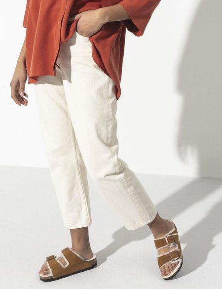 Birkenstock Arizona Shearling Regular Sandals - Mink Brown
