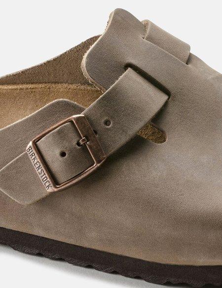 Birkenstock Boston Oiled Leather Narrow Sandals - Tobacco Brown
