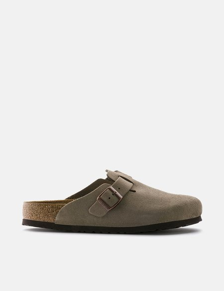 Birkenstock Boston Suede Narrow Sandals - Taupe