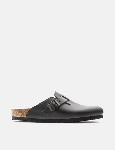 Birkenstock Boston Natural Leather Narrow - Black