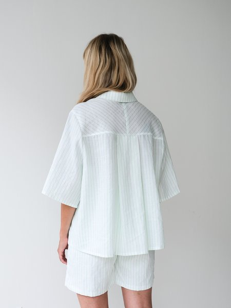 Odeyalo Parlour Stripes Shirt - Neon Green