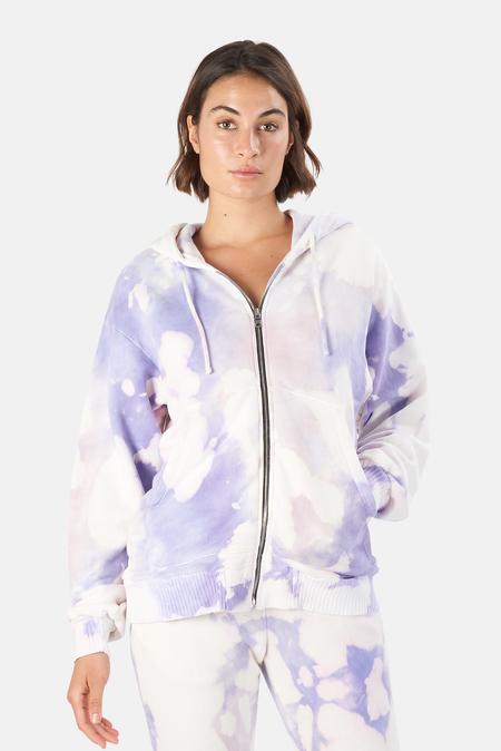 Cotton Citizen Brooklyn Oversized Zip Hoodie Sweater - Lilac Blast