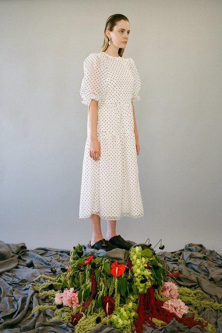 KkCo Hus Dress - Black/White Dot Organza