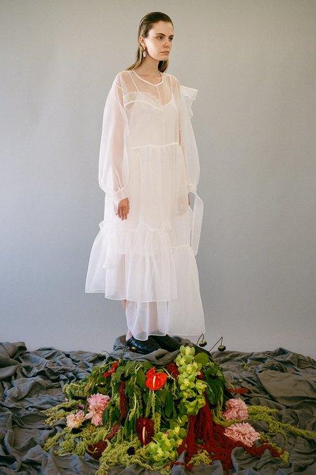 KkCo Nine Twenty-Seven Organza Dress - Blanco