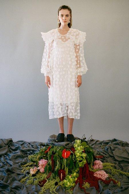 KkCo Sailor 3D Flower Dress - Parchment