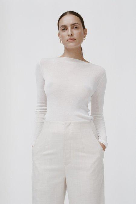 St. Agni Dore Knit Top - white