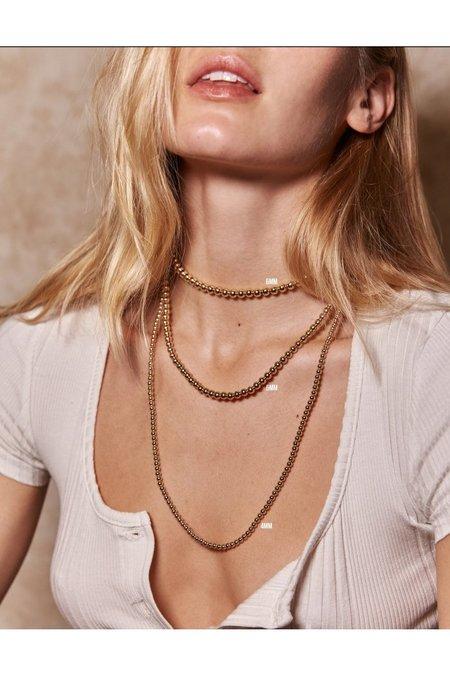 Alexa Leigh 4MM Ball Necklace - Gold