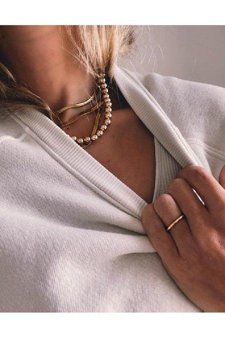 Alexa Leigh Ball Necklace  - Gold