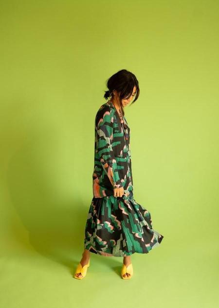 Elk the Label Cactus Shirt Dress - multi