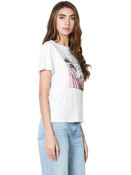 RE/DONE Classic Saturday Tee - Vintage White