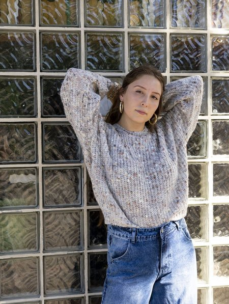 Just Almine Knit Pullover Sweater