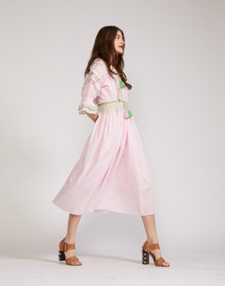 Cynthia Rowley Daliah Tassel Cotton Dress - Pink