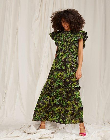 Cynthia Rowley Nairobi Tropical Kaftan - Black Floral